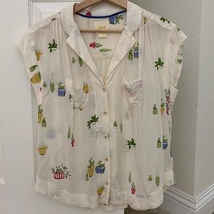 Anthropologie cacti blouse